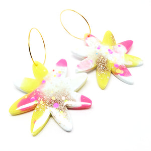Resin · Bloom Hoops · Pink White