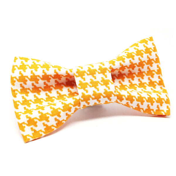 Cat Bow · Houndstooth · Yellow