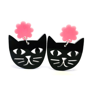 Cat Face · Black + Pink