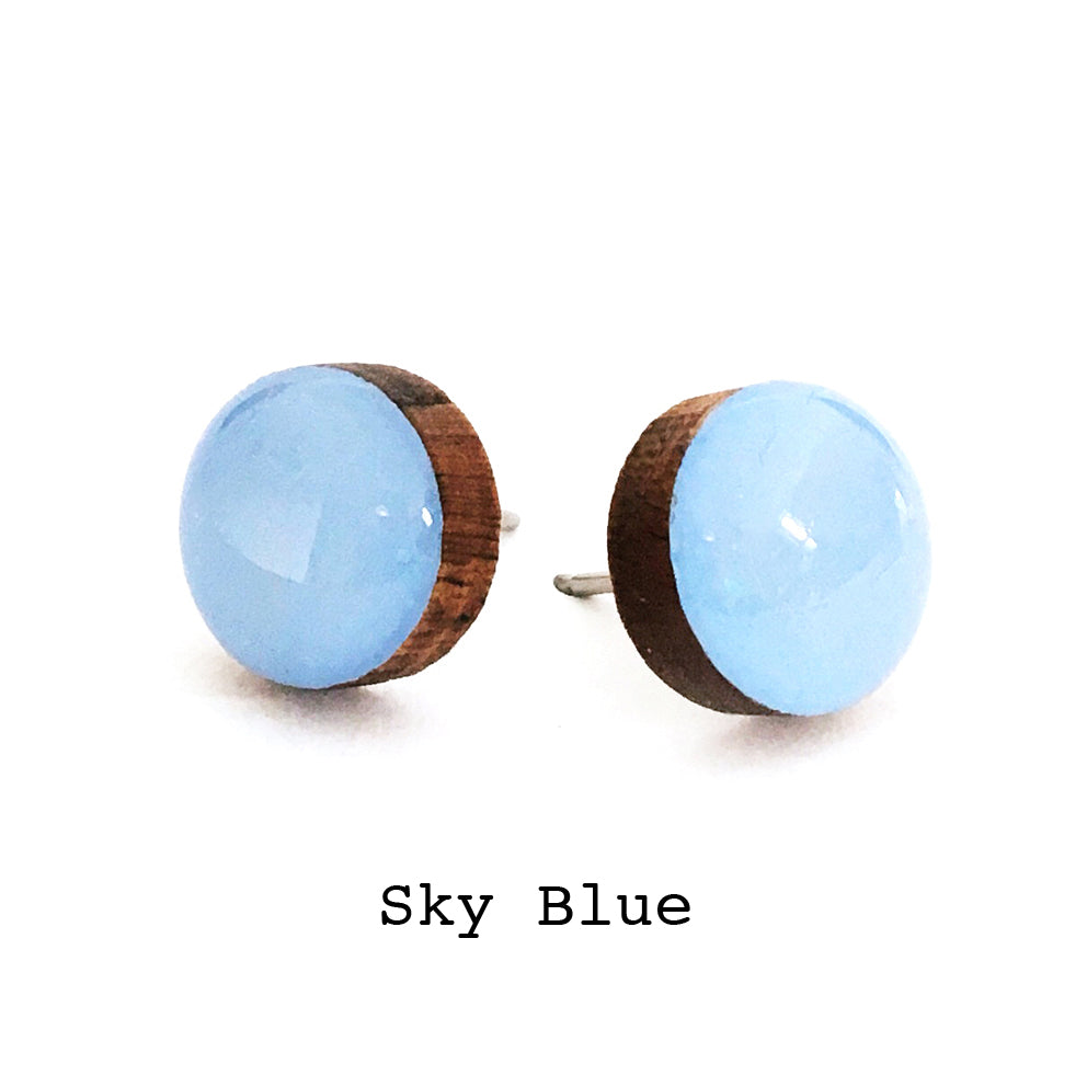 Dot Earrings · Sky Blue