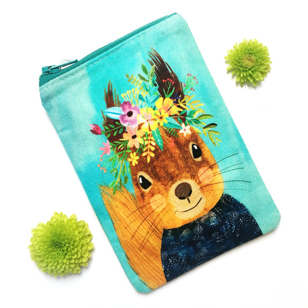 Coin Purse · Woodland Collection · Squirrel