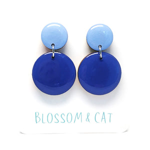 Moon Dot Dangle · Bluebell + Sky Blue