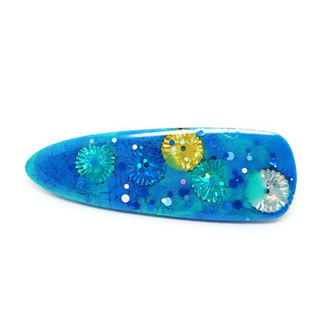 Resin Hair Clip · Ivy · Blue · 13