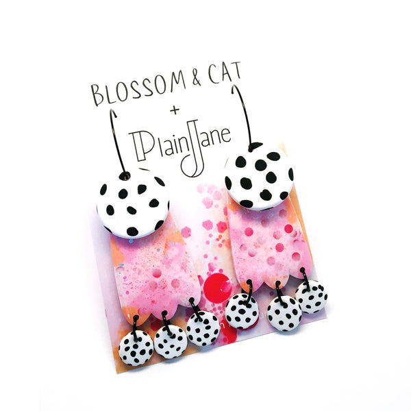 blossom & cat + Plain Jane · Lily Dangle · Apricot Rose