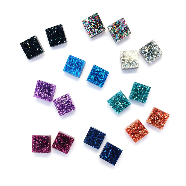 Tiny Glitter Squares · Choose your Colour