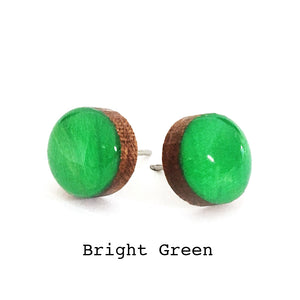 Dot Earrings · Bright Green