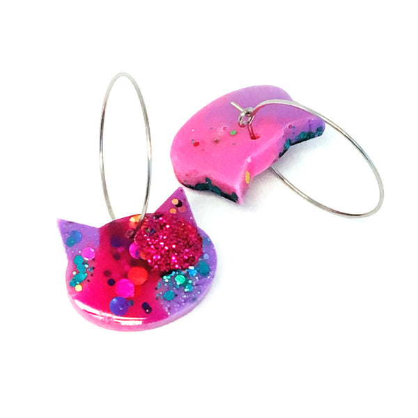 Resin Cat Hoop · Hot Pink Lilac · 16