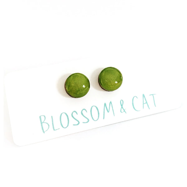 Dot Earrings · Chartreuse