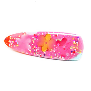 Resin Hair Clip · Ivy · Pinky Flower · 16