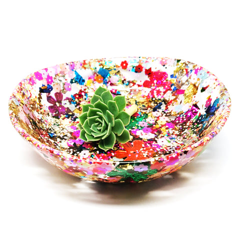 Resin Bowl · Large Organic · Carnival