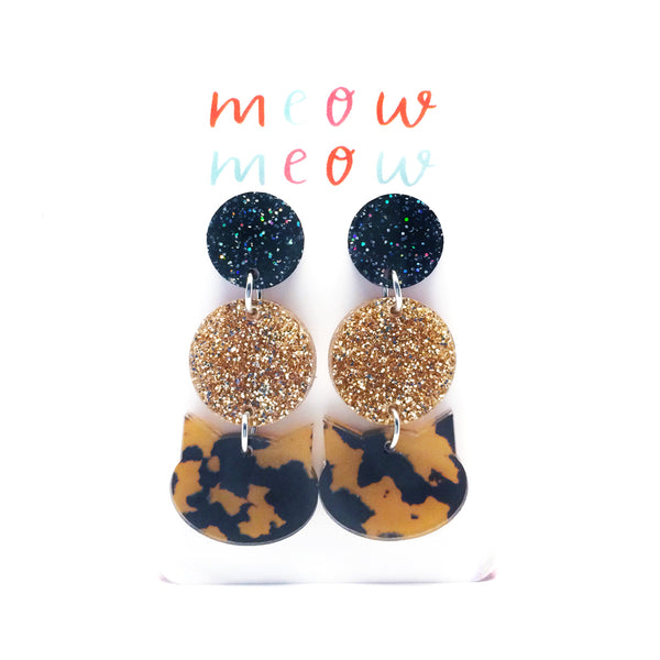 Meow Triple Drop · Leopard & Gold