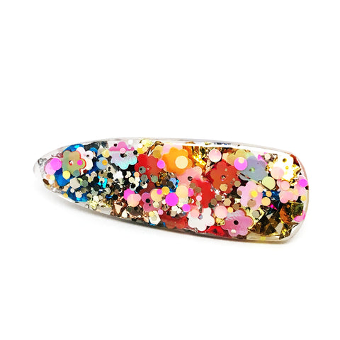 Resin Hair Clip · Ivy · Flowers · 17