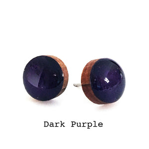 Dot Earrings · Dark Purple