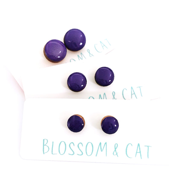 Dot Earrings · Violet
