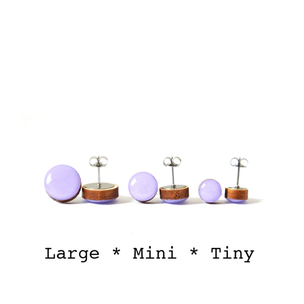 Dot Earrings · Light Violet