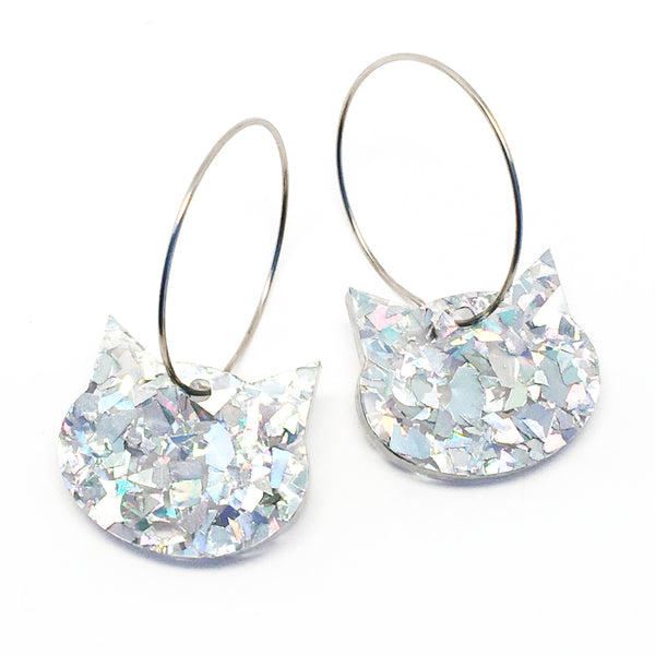 Cat Hoop · Fancy Disco Silver