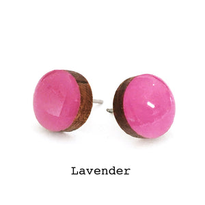 Dot Earrings · Lavender