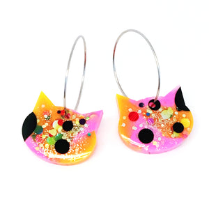 Resin Cat Hoop · Yellow Pink · 23