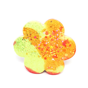 Resin Hair Clip · Fleur · Limey Orange · 3