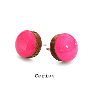 Dot Earrings · Cerise