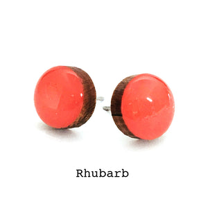 Dot Earrings · Rhubarb