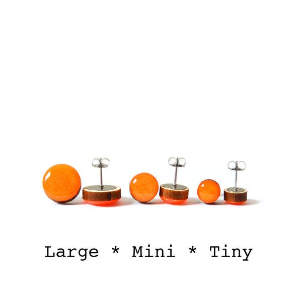 Dot Earrings · Bright Orange