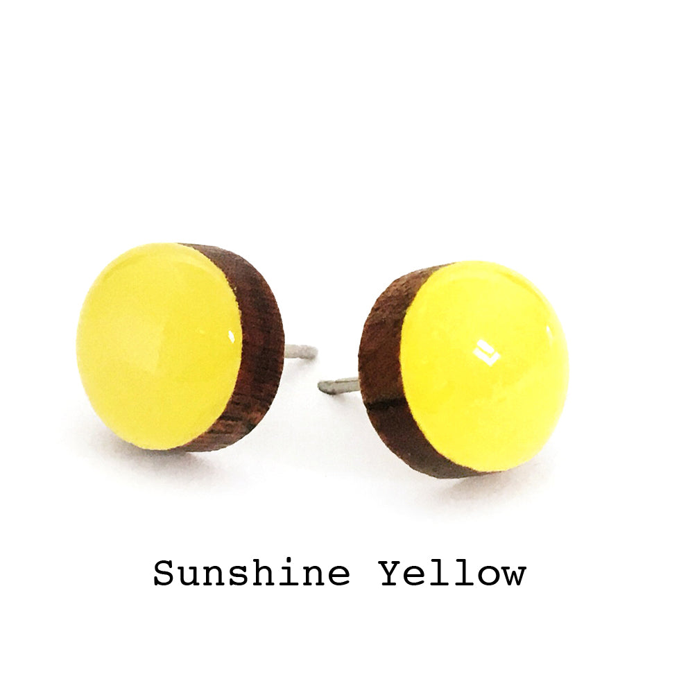Dot Earrings · Sunshine Yellow
