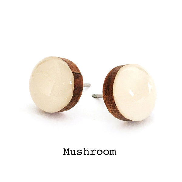 Dot Earrings · Mushroom