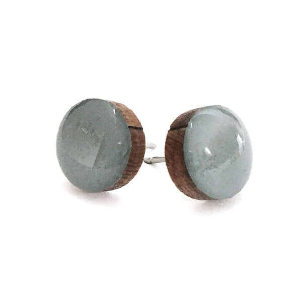 Dot Earrings · Slate Grey