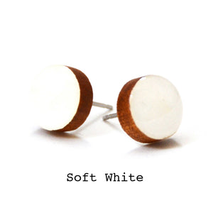 Dot Earrings · Soft White