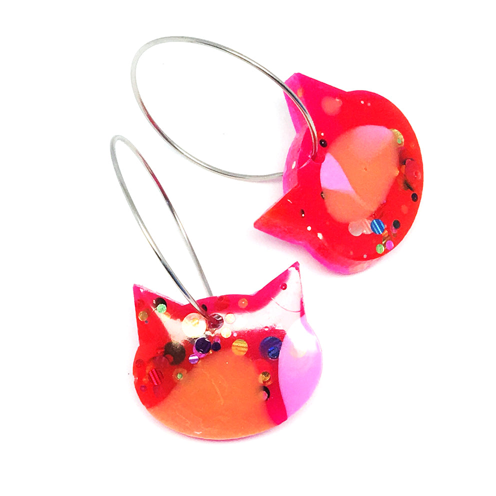 Resin Cat Hoop · Pinky Red · 38