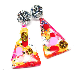 Resin Dangle · Moon Mountain · Pinky Orange Red