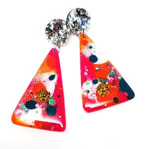Resin Dangle · Moon Mountain · PInky Teal
