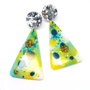 Resin Dangle · Moon Mountain · Lemon Teal
