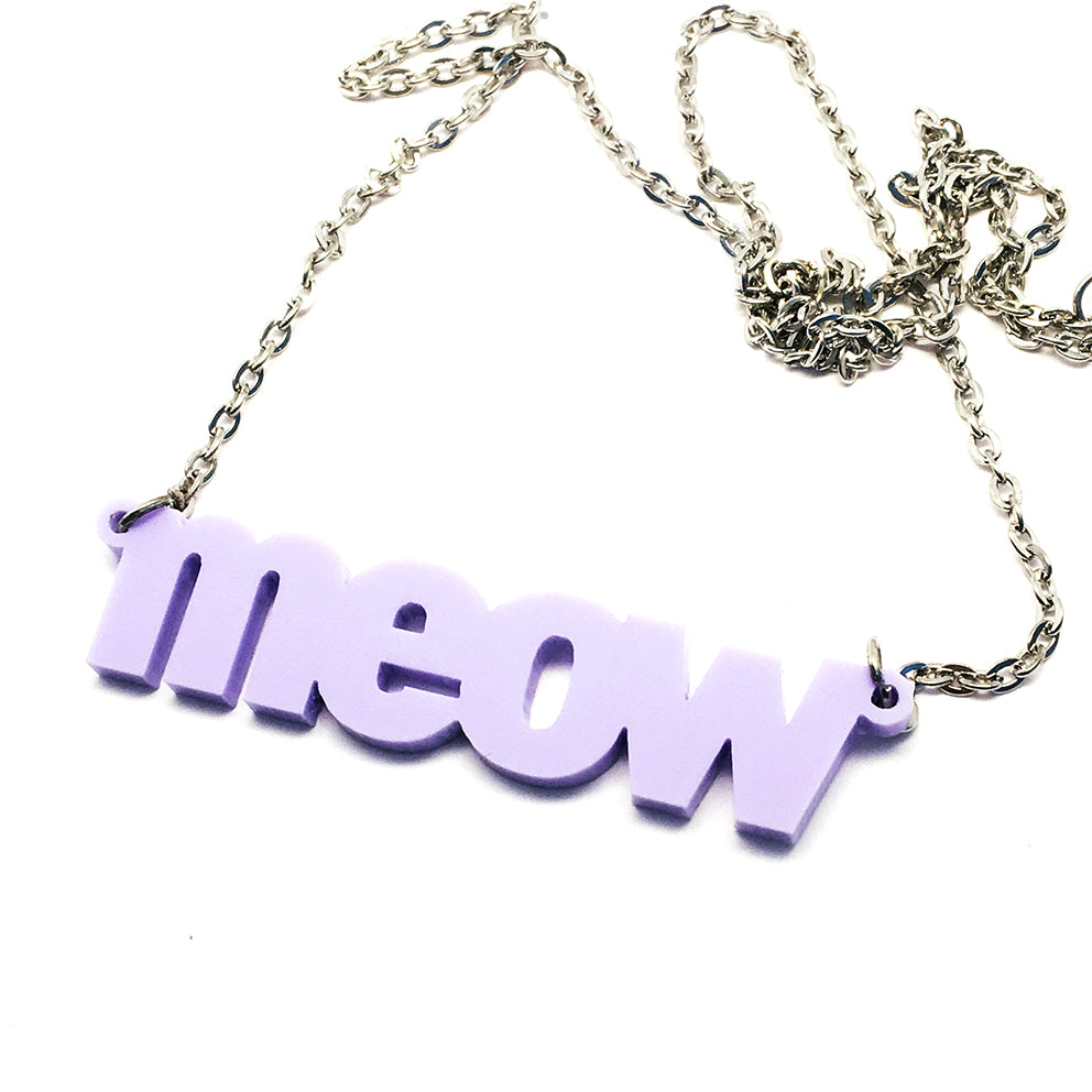 Meow Necklace · Grape