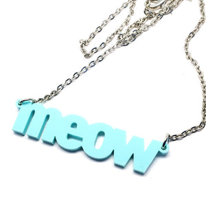 Meow Necklace · Mint