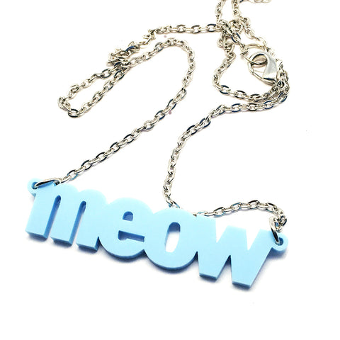 Meow Necklace · Blueberry