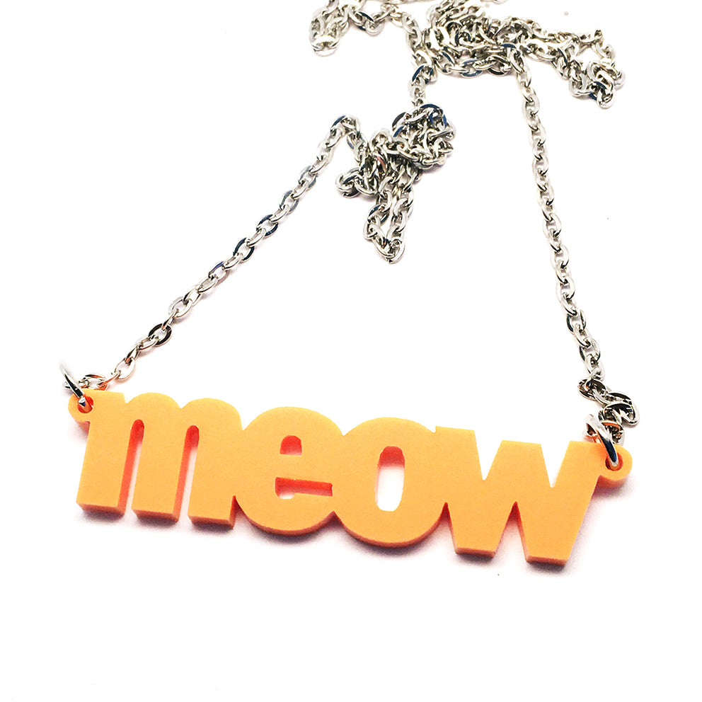 Meow Necklace · Peach