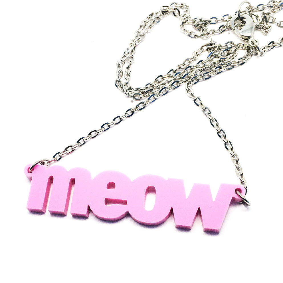 Meow Necklace · Plum
