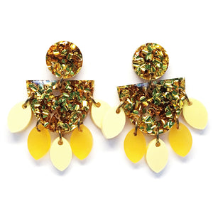 Medium Dangle · Sunflower · Gold & Yellow