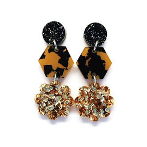 Mini Dangle · Geo Daisy · Gold