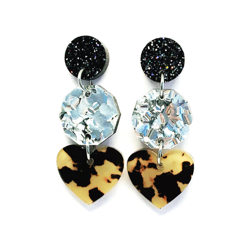 Mini Dangle · i heart you · Light Leopard
