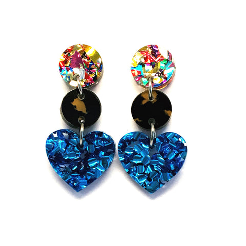 Mini Dangle · i heart you · Blue