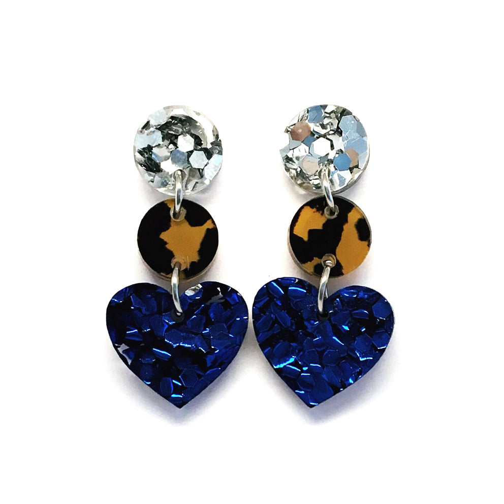 Mini Dangle · i heart you · Dark Blue