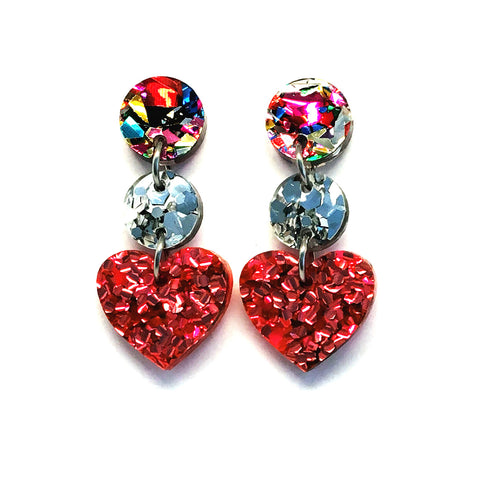 Mini Dangle · i heart you · Pink