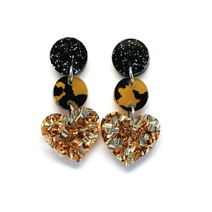 Mini Dangle · i heart you · Gold