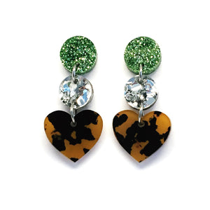 Mini Dangle · i heart you · Leopard