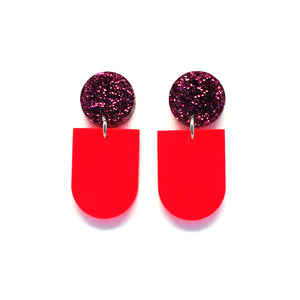 Mini Dangle · Bowl · Neon Red