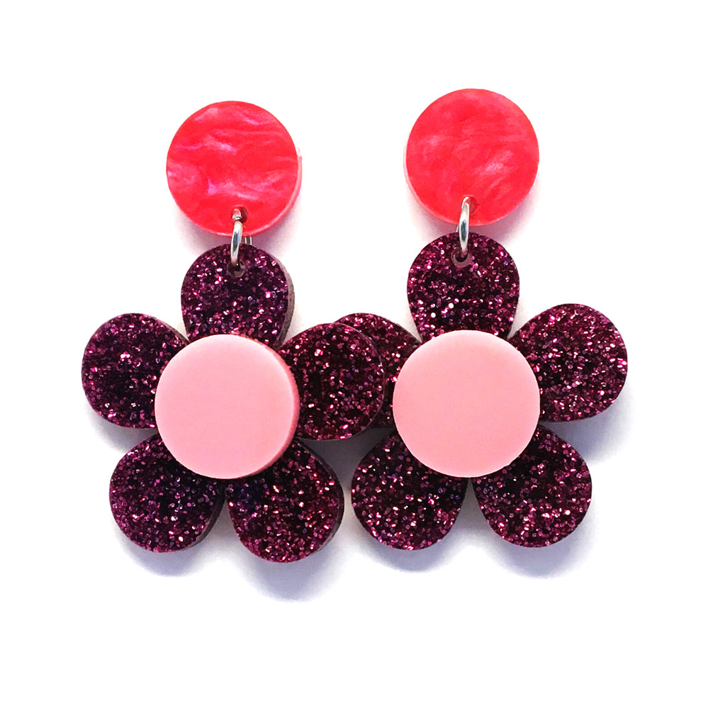 Mini Dangle · Flower · Magenta
