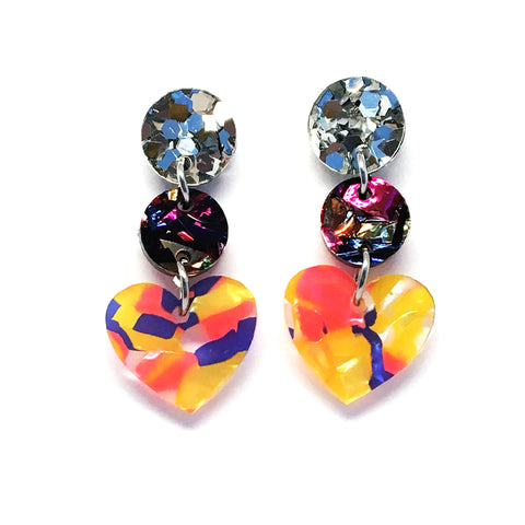 Mini Dangle · i heart you · Confetti